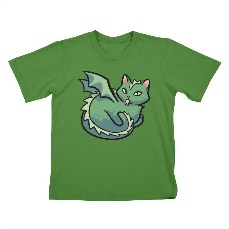 Dragon Cat Kids T-shirt by mirana's Artist Shop