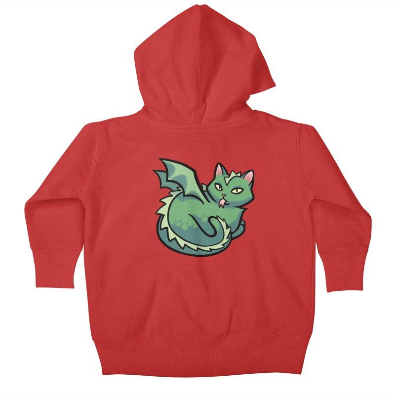 Dragon Cat Kids Baby Zip-Up Hoody by mirana's Artist Shop