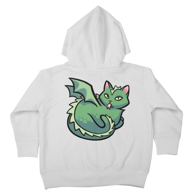 Dragon Cat Kids Toddler Zip-Up Hoody by mirana's Artist Shop