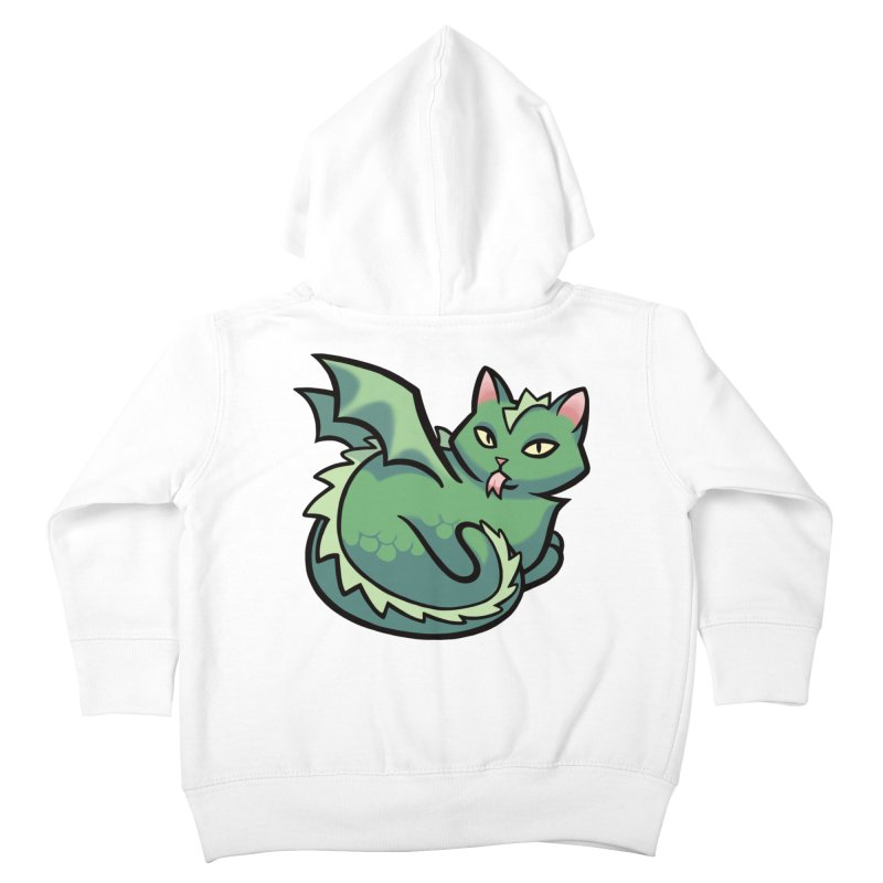 Dragon Cat Kids Toddler Zip-Up Hoody by mirana's Artist Shop