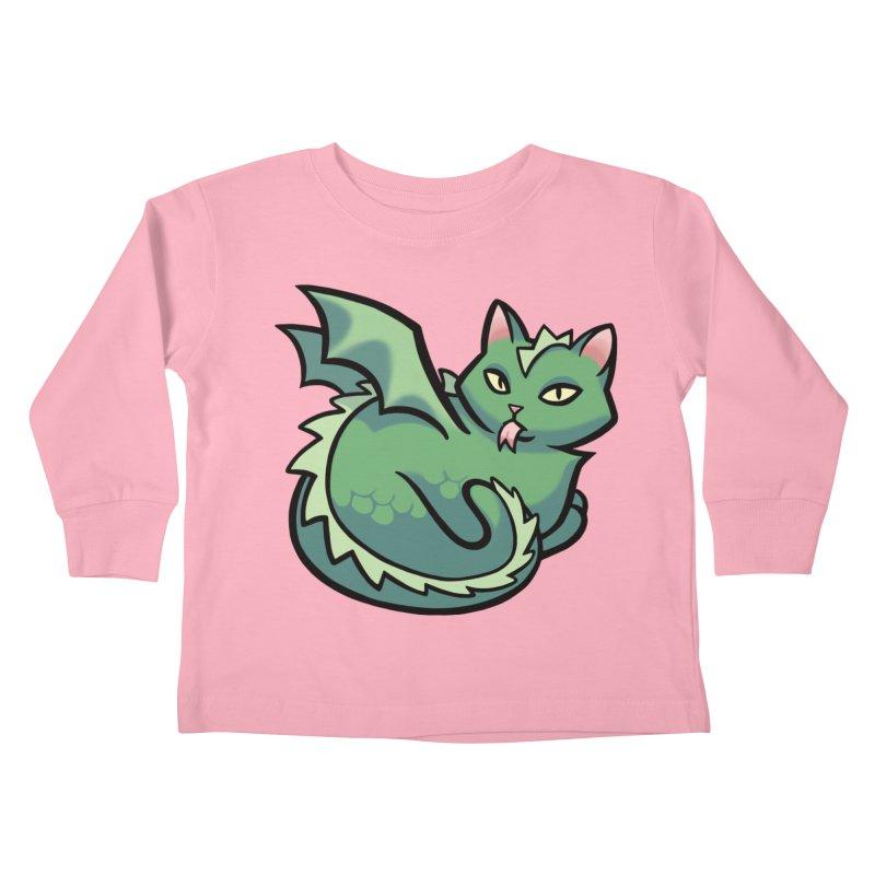 Dragon Cat Kids Toddler Longsleeve T-Shirt by mirana's Artist Shop