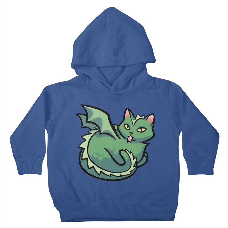 Dragon Cat Kids Toddler Pullover Hoody by mirana's Artist Shop