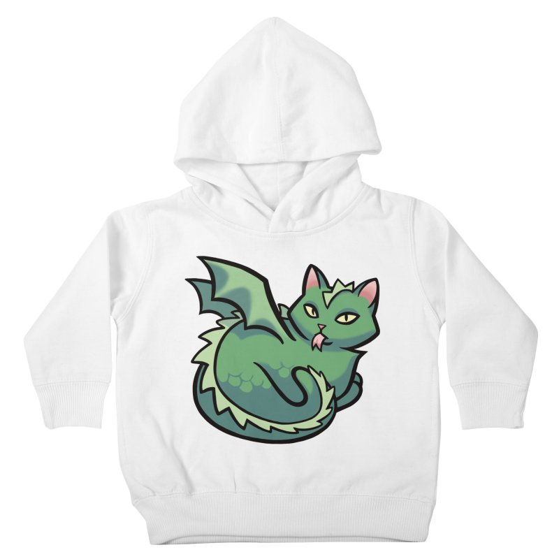 Dragon Cat Kids Toddler Pullover Hoody by mirana's Artist Shop