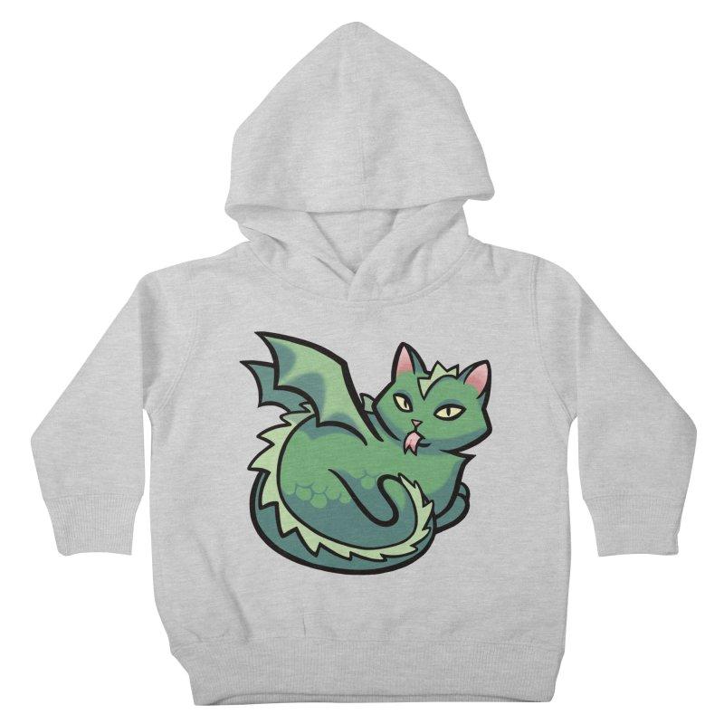 Dragon Cat Kids Toddler Pullover Hoody by The Art of Mirana Reveier