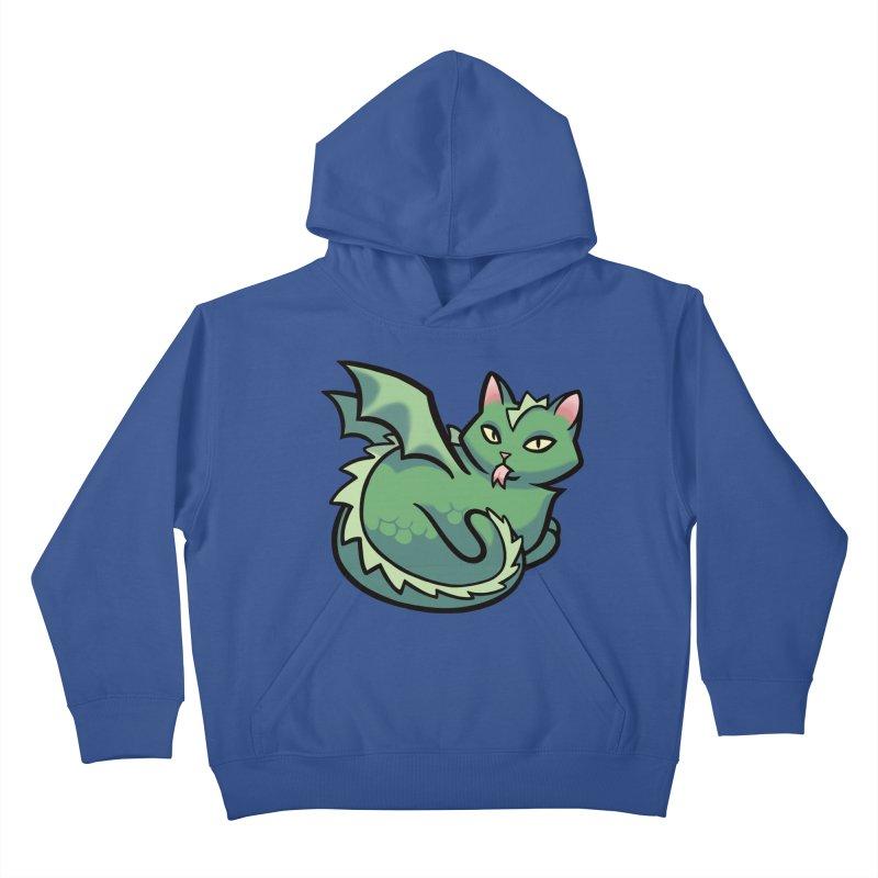 Dragon Cat Kids Pullover Hoody by mirana's Artist Shop