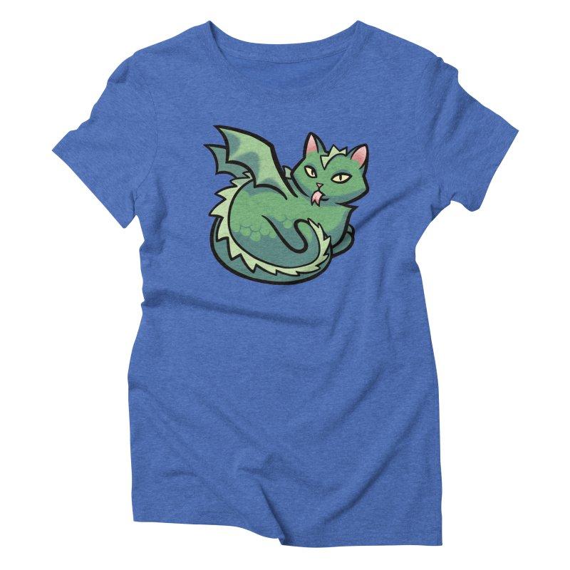 Dragon Cat Women's Triblend T-shirt by mirana's Artist Shop