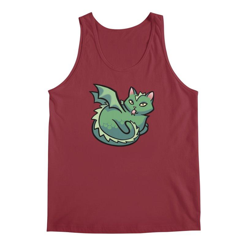 Dragon Cat Men's Regular Tank by mirana's Artist Shop