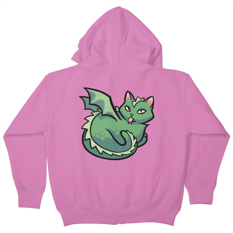 Dragon Cat Kids Zip-Up Hoody by mirana's Artist Shop
