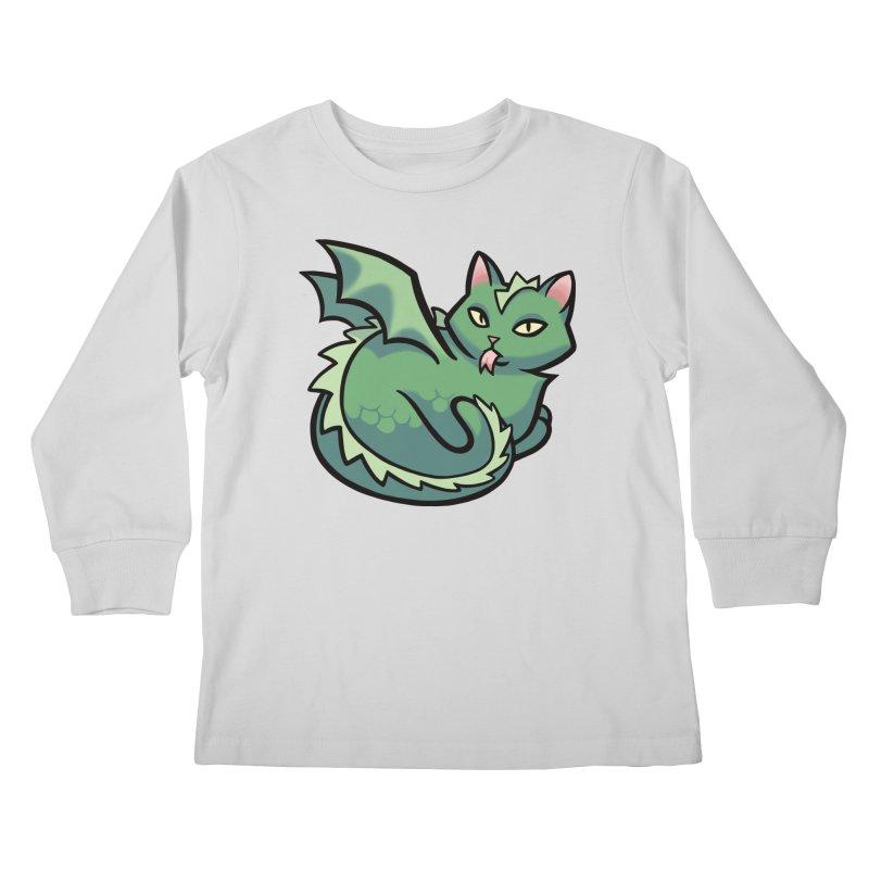 Dragon Cat Kids Longsleeve T-Shirt by mirana's Artist Shop