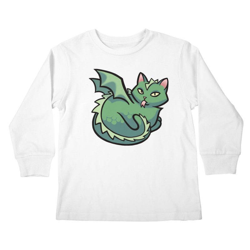 Dragon Cat Kids Longsleeve T-Shirt by mirana's Artist Shop