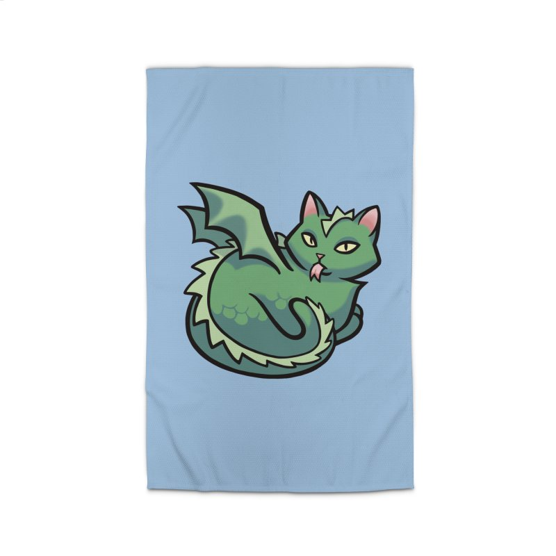 Dragon Cat Home Rug by The Art of Mirana Reveier