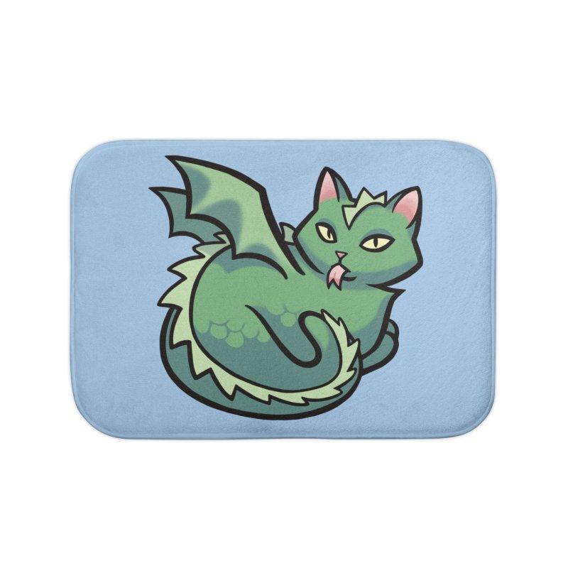 Dragon Cat Home Bath Mat by The Art of Mirana Reveier