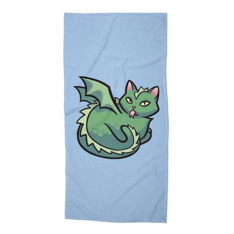Dragon Cat Accessories Beach Towel by The Art of Mirana Reveier