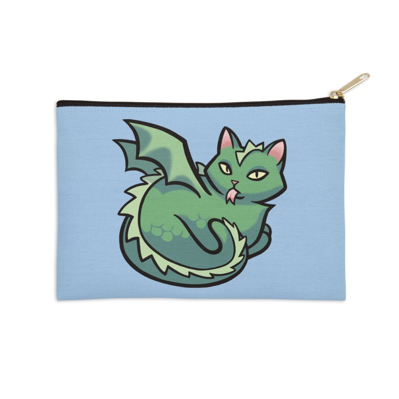 Dragon Cat Accessories Zip Pouch by mirana's Artist Shop