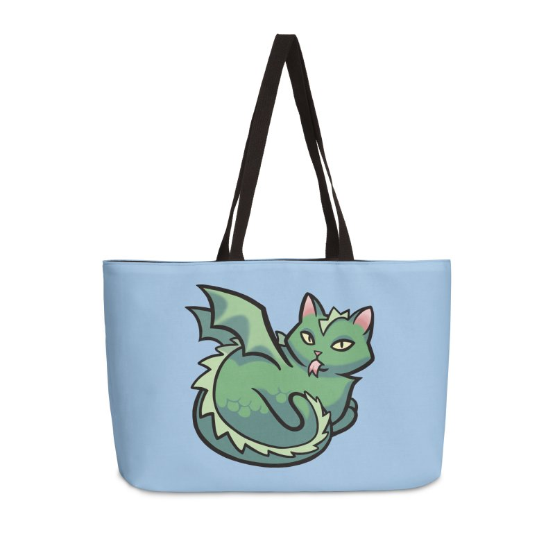 Dragon Cat Accessories Weekender Bag Bag by mirana's Artist Shop