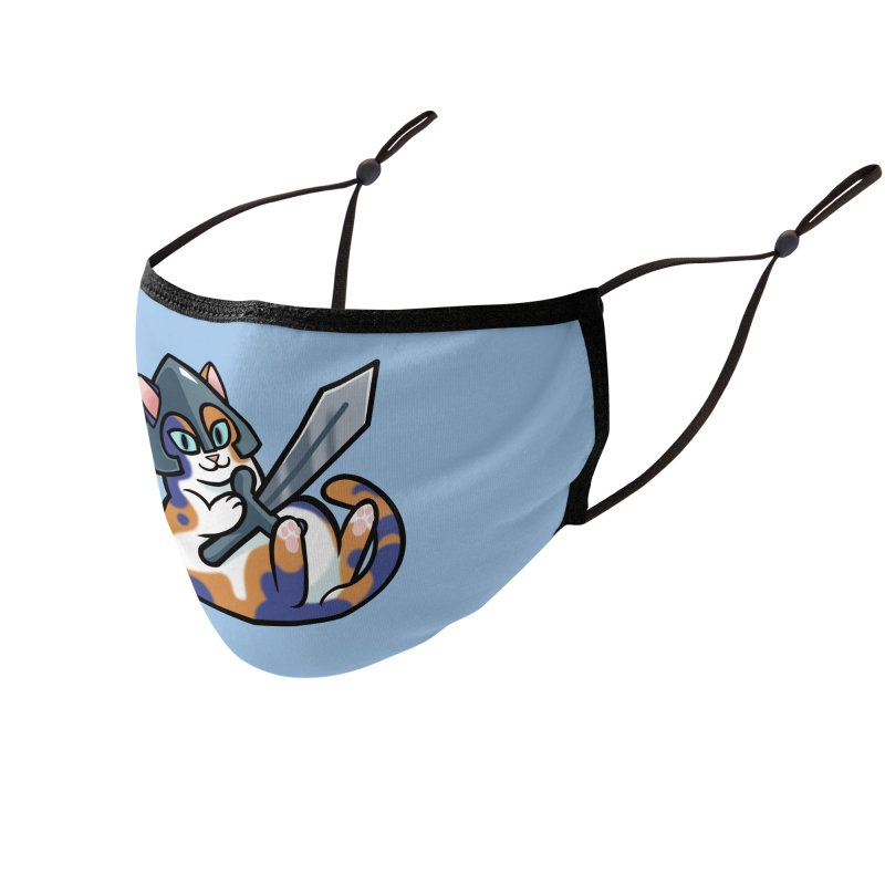 Sword Cat Accessories Face Mask by The Art of Mirana Reveier