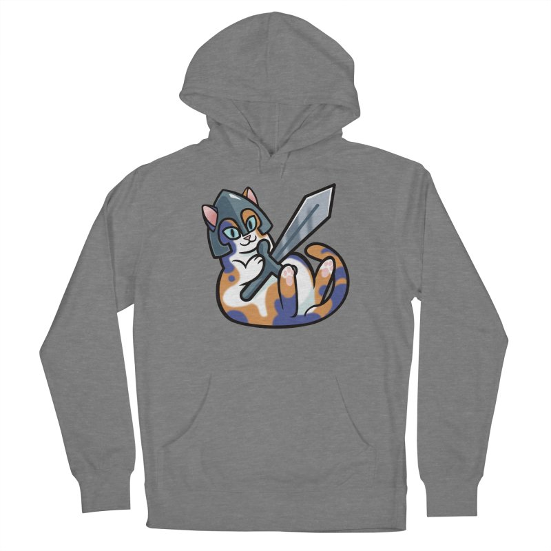 Sword Cat Men's French Terry Pullover Hoody by mirana's Artist Shop