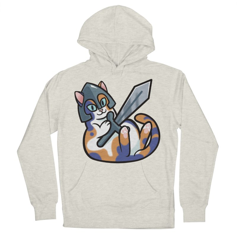 Sword Cat Men's Pullover Hoody by mirana's Artist Shop