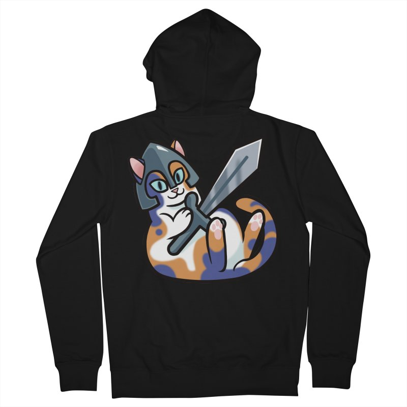 Sword Cat Women's French Terry Zip-Up Hoody by mirana's Artist Shop