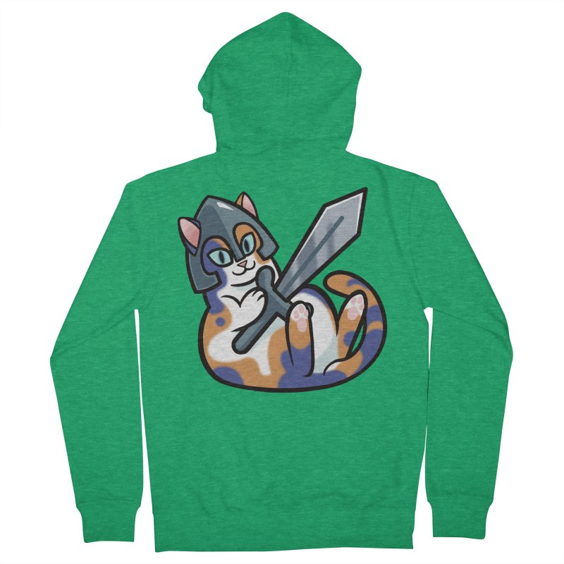 Sword Cat Men's Zip-Up Hoody by The Art of Mirana Reveier