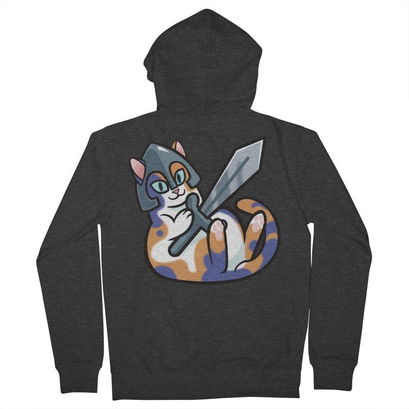 Sword Cat Men's Zip-Up Hoody by mirana's Artist Shop
