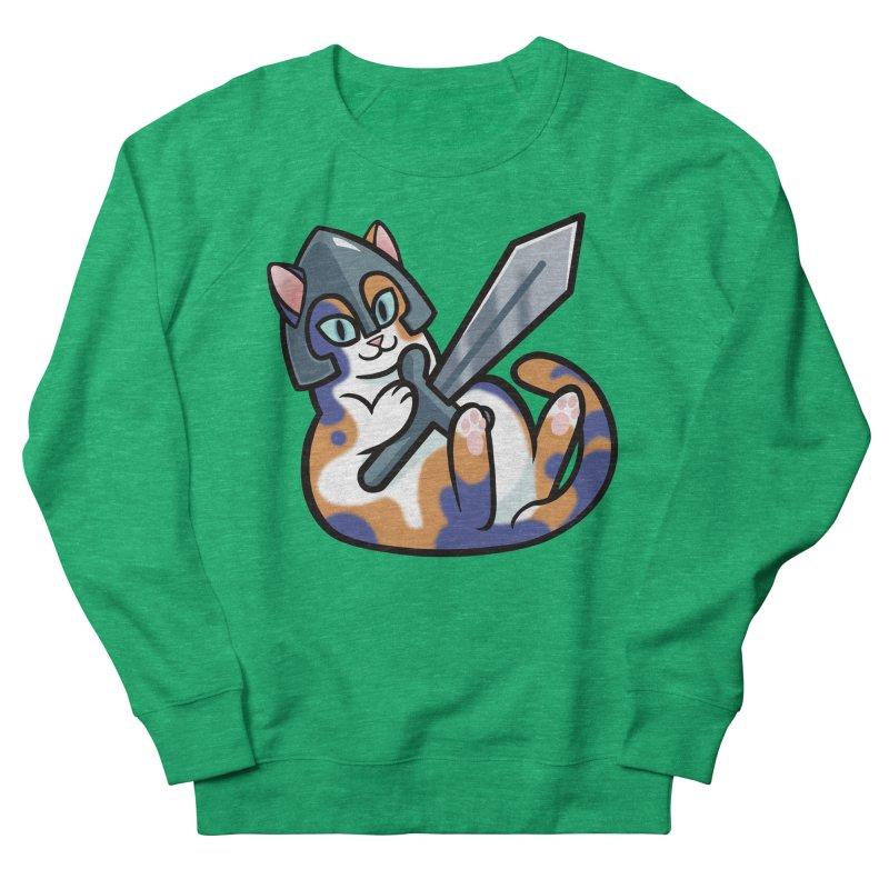 Sword Cat Men's French Terry Sweatshirt by mirana's Artist Shop