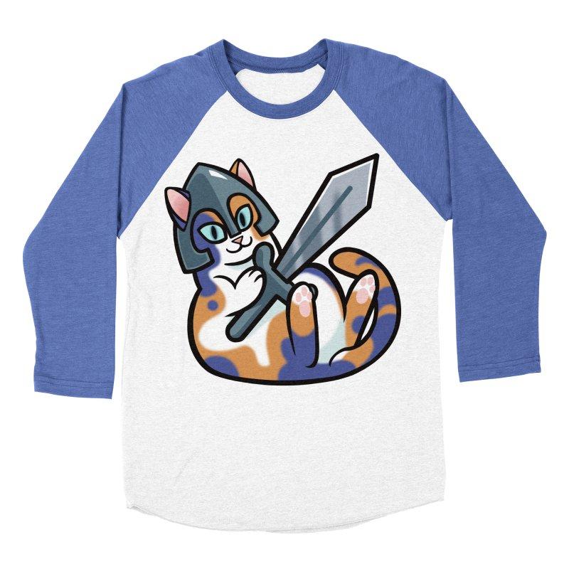 Sword Cat Men's Baseball Triblend Longsleeve T-Shirt by mirana's Artist Shop