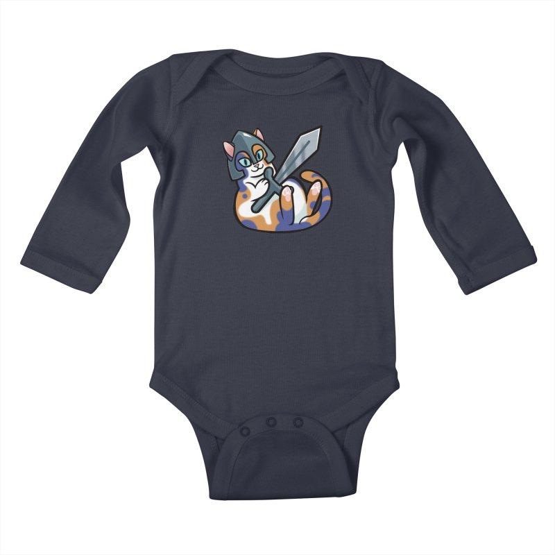 Sword Cat Kids Baby Longsleeve Bodysuit by The Art of Mirana Reveier