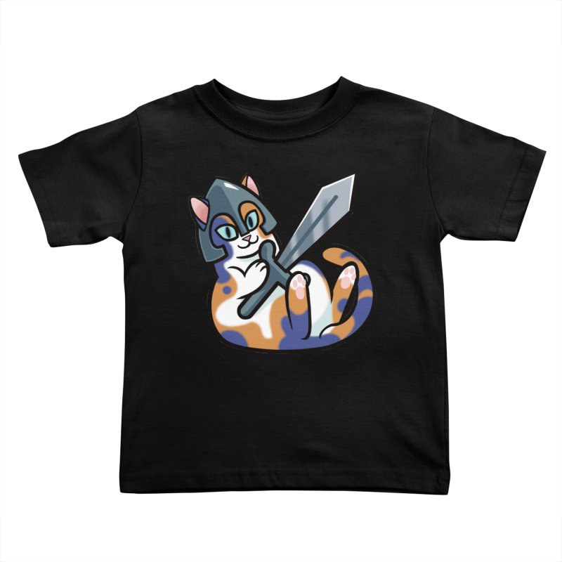 Sword Cat Kids Toddler T-Shirt by mirana's Artist Shop