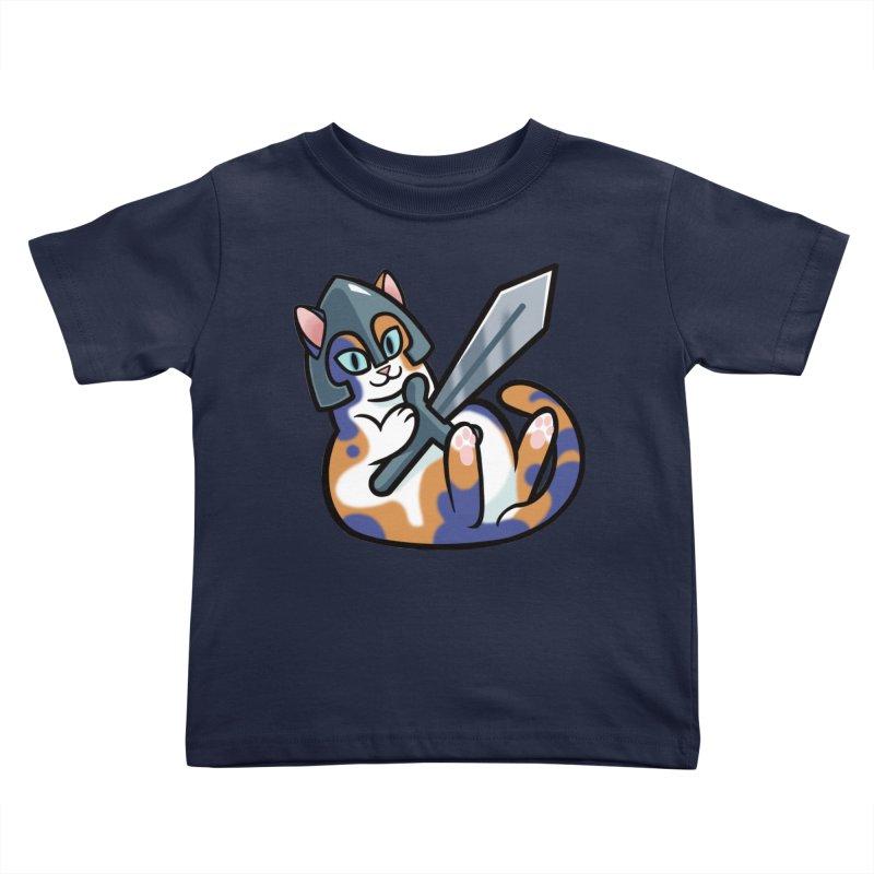 Sword Cat Kids Toddler T-Shirt by mirana's Artist Shop
