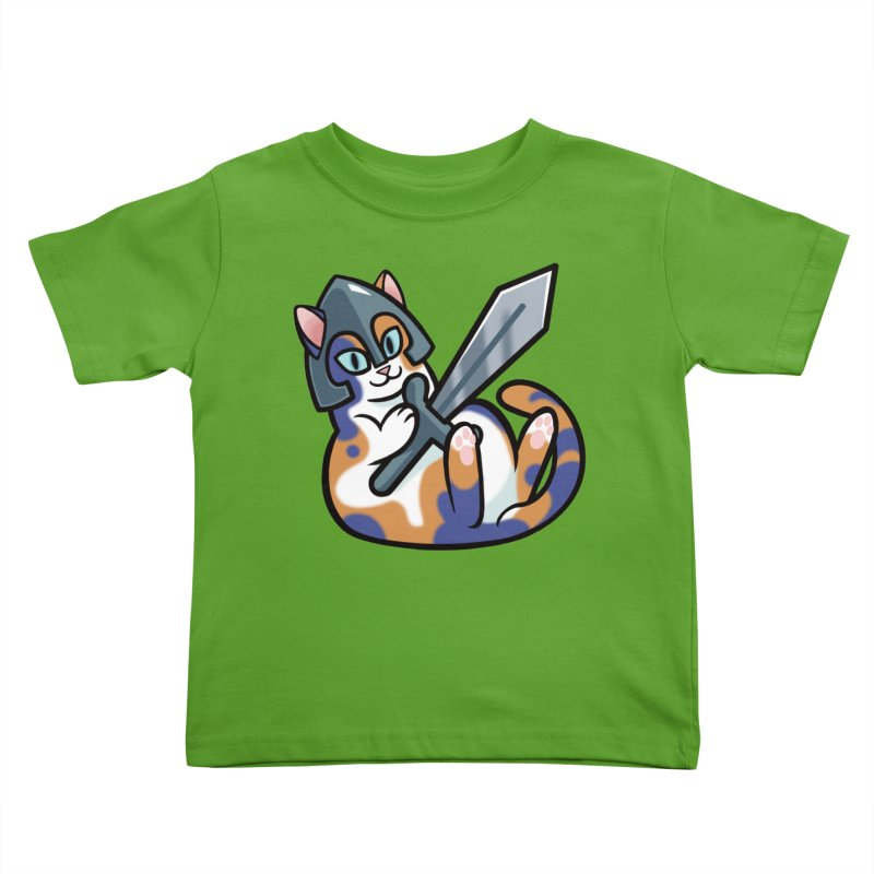 Sword Cat Kids Toddler T-Shirt by The Art of Mirana Reveier