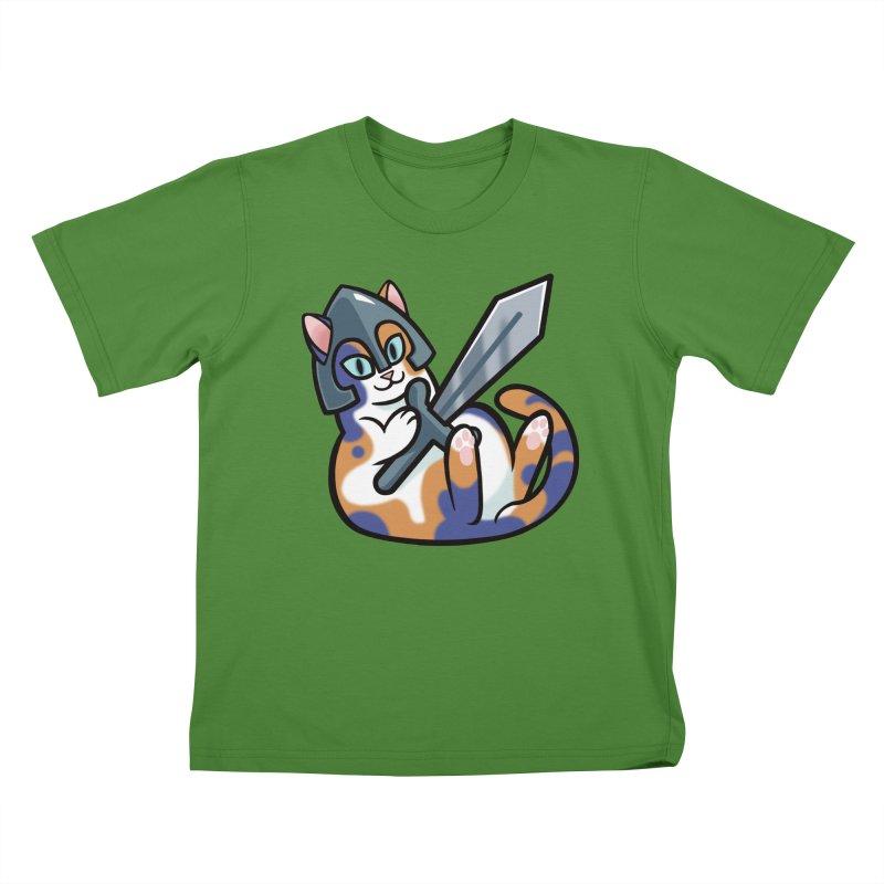 Sword Cat Kids T-shirt by mirana's Artist Shop