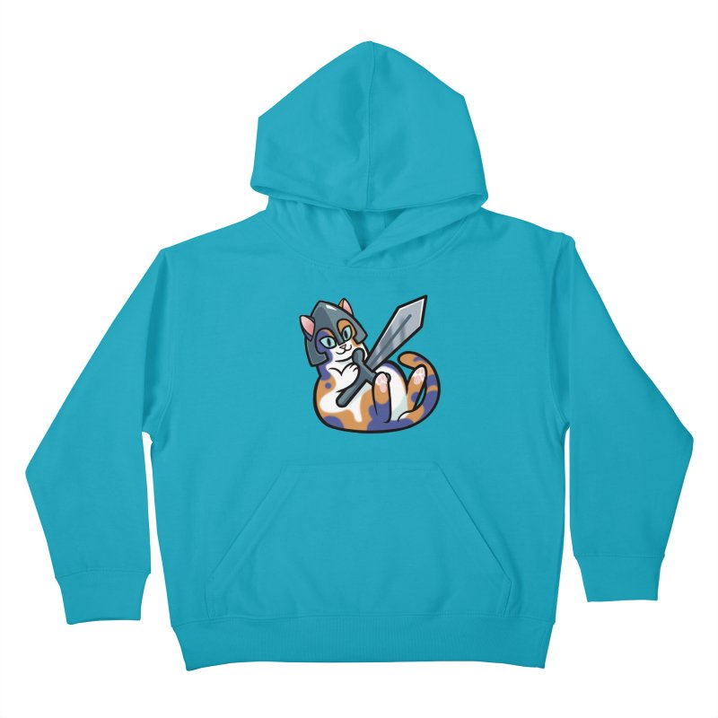 Sword Cat Kids Pullover Hoody by mirana's Artist Shop