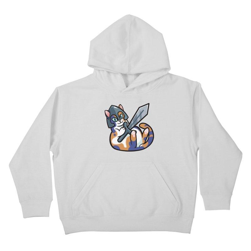 Sword Cat Kids Pullover Hoody by mirana's Artist Shop