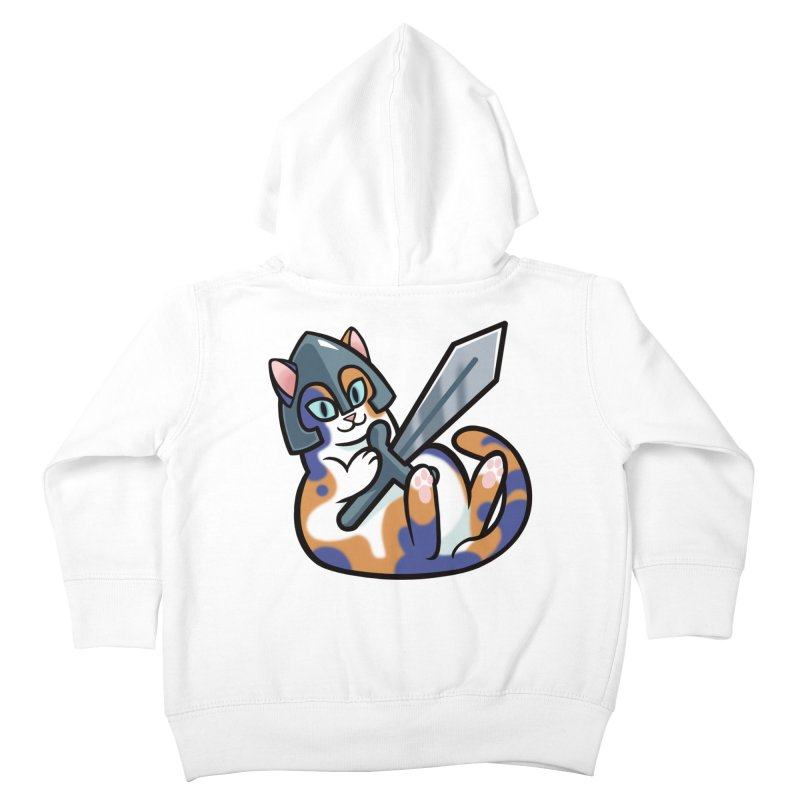 Sword Cat Kids Toddler Zip-Up Hoody by mirana's Artist Shop