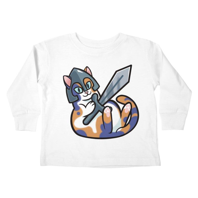 Sword Cat Kids Toddler Longsleeve T-Shirt by mirana's Artist Shop
