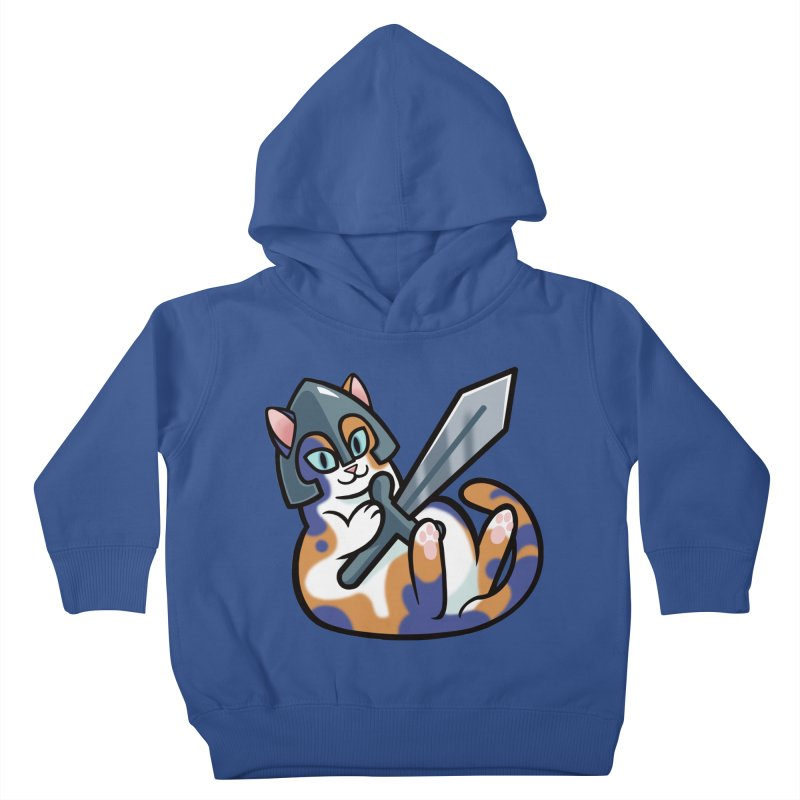 Sword Cat Kids Toddler Pullover Hoody by mirana's Artist Shop