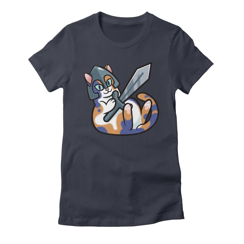 Sword Cat Women's Fitted T-Shirt by mirana's Artist Shop