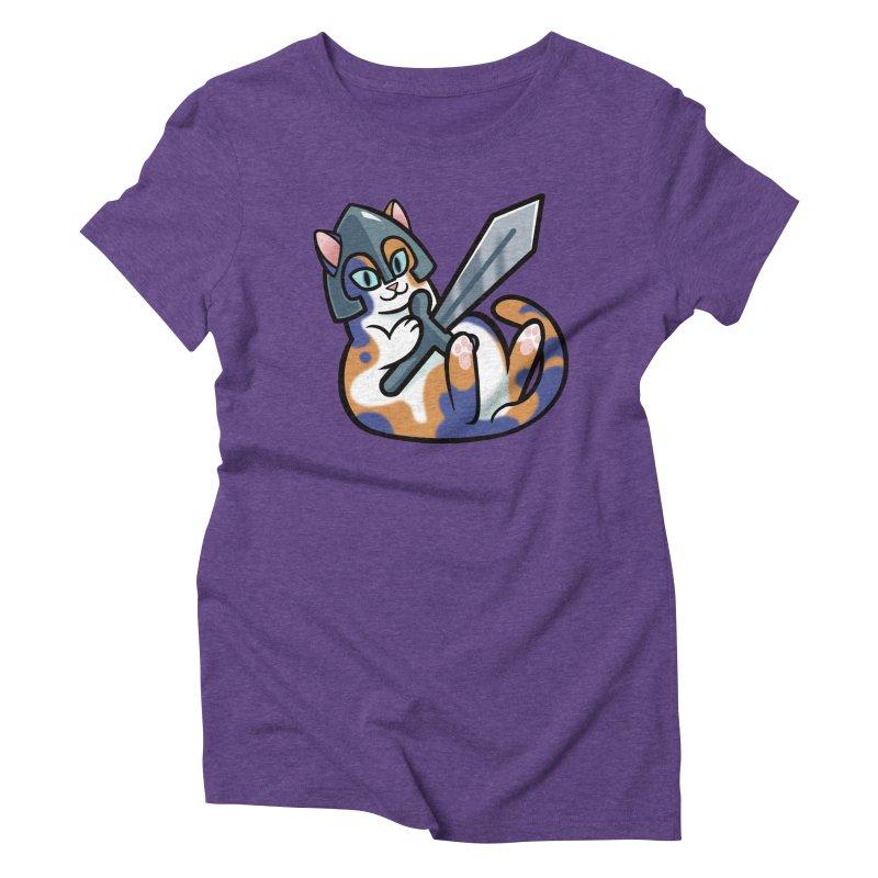 Sword Cat Women's Triblend T-Shirt by mirana's Artist Shop