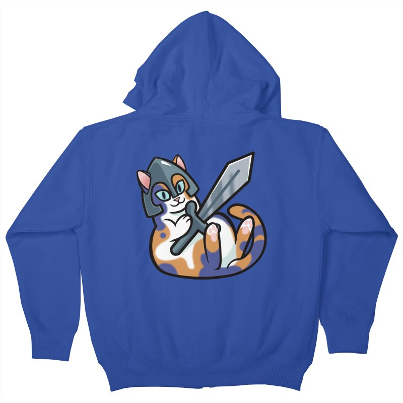 Sword Cat Kids Zip-Up Hoody by mirana's Artist Shop