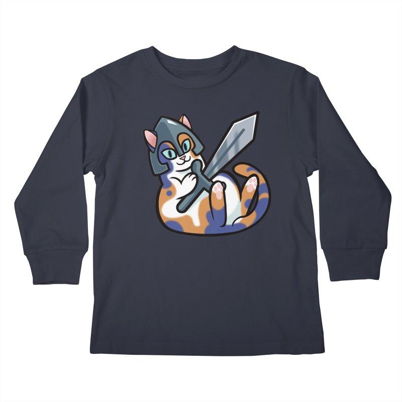 Sword Cat Kids Longsleeve T-Shirt by mirana's Artist Shop