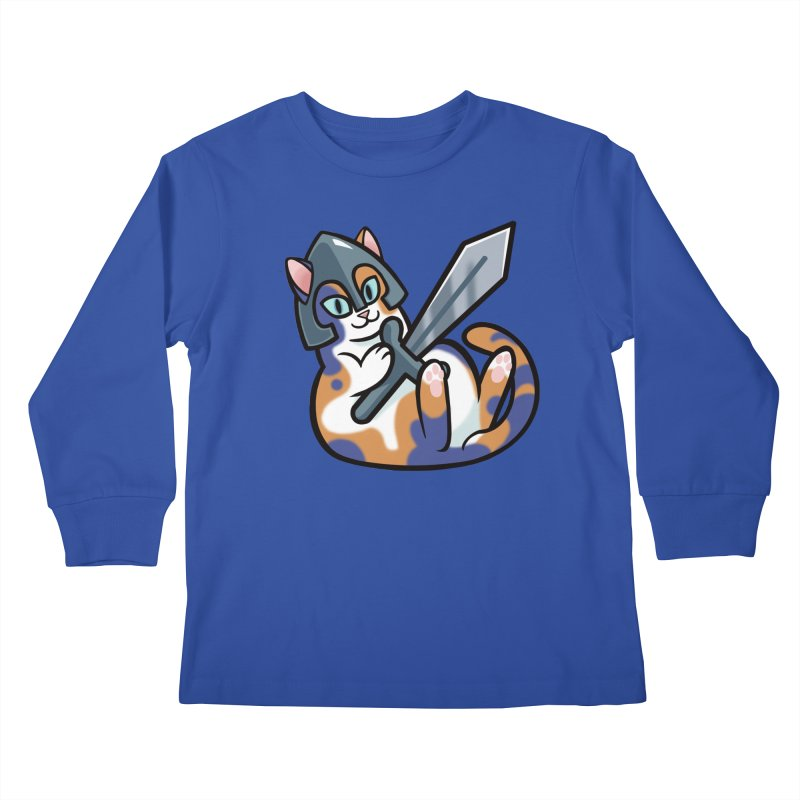 Sword Cat Kids Longsleeve T-Shirt by mirana's Artist Shop