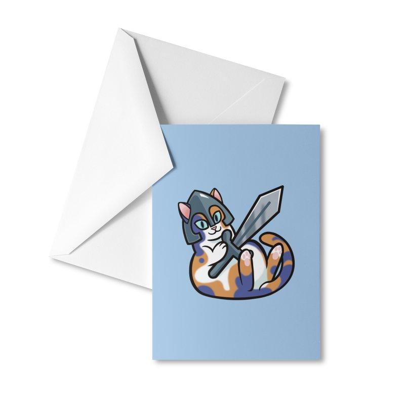 Sword Cat Accessories Greeting Card by The Art of Mirana Reveier