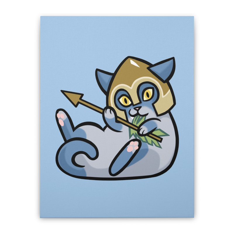 Arrow Cat Home Stretched Canvas by mirana's Artist Shop