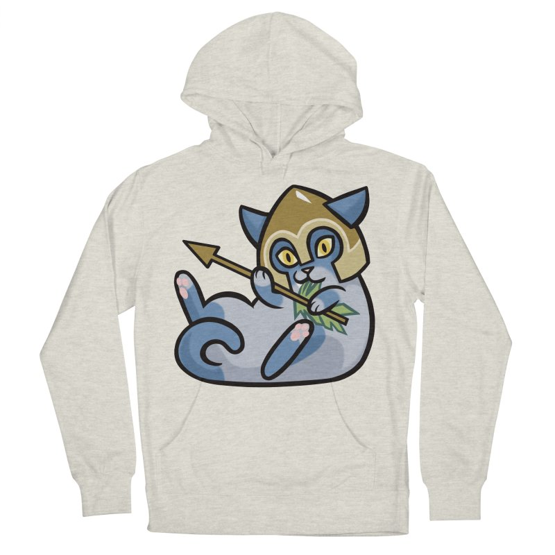 Arrow Cat Men's French Terry Pullover Hoody by mirana's Artist Shop