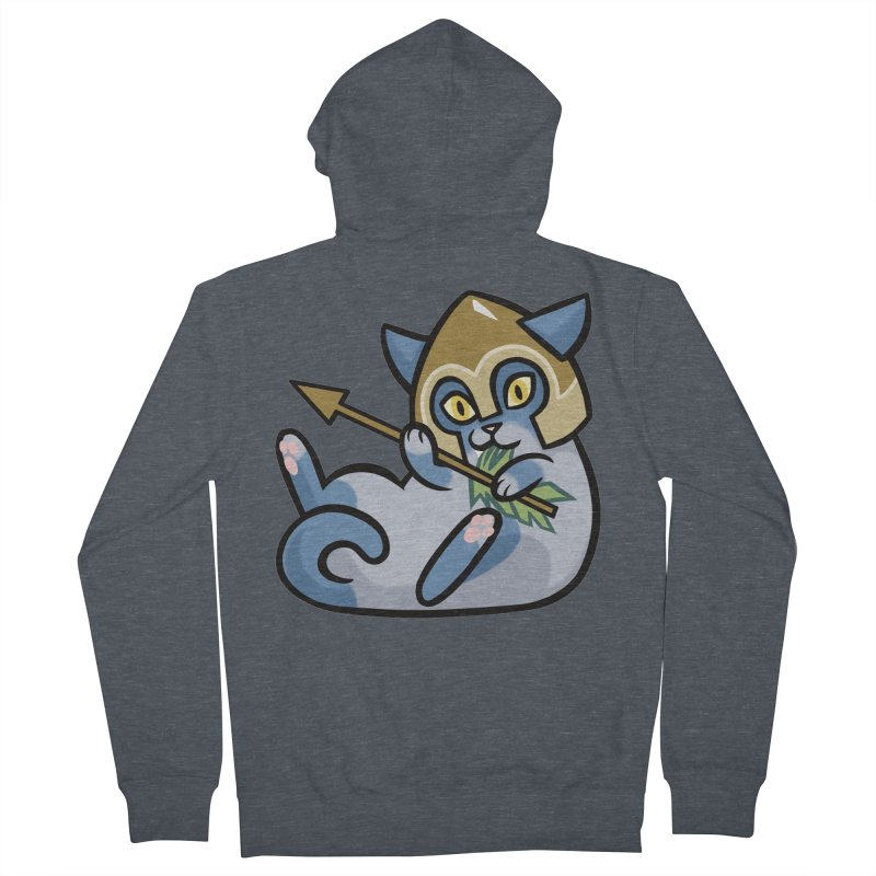 Arrow Cat Women's French Terry Zip-Up Hoody by mirana's Artist Shop