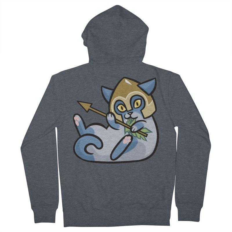 Arrow Cat Men's Zip-Up Hoody by mirana's Artist Shop
