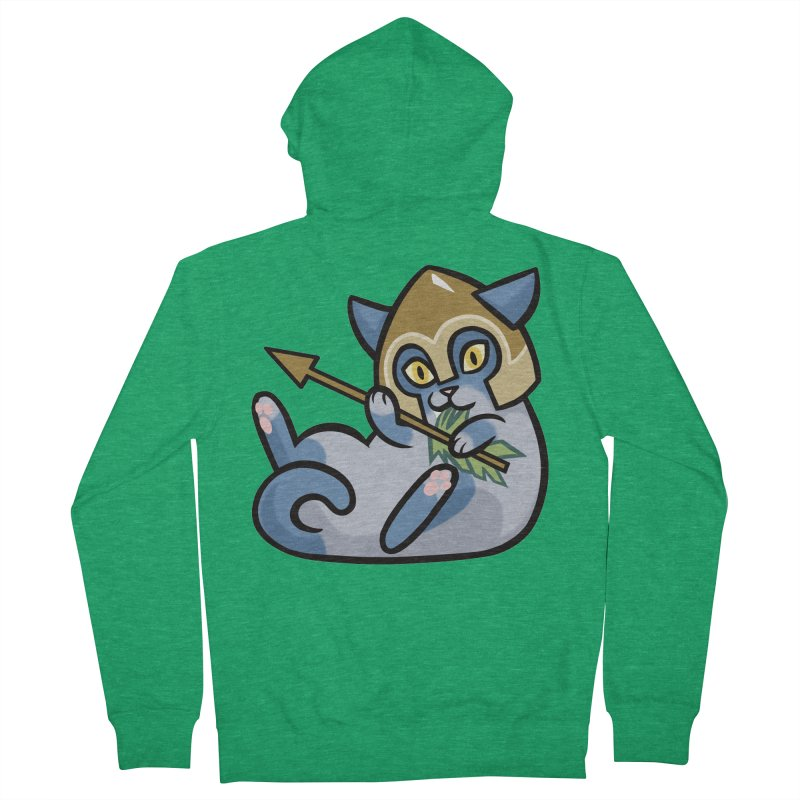 Arrow Cat Men's French Terry Zip-Up Hoody by mirana's Artist Shop