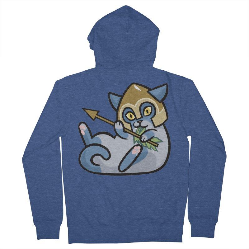 Arrow Cat Men's French Terry Zip-Up Hoody by mirana's Artist Shop