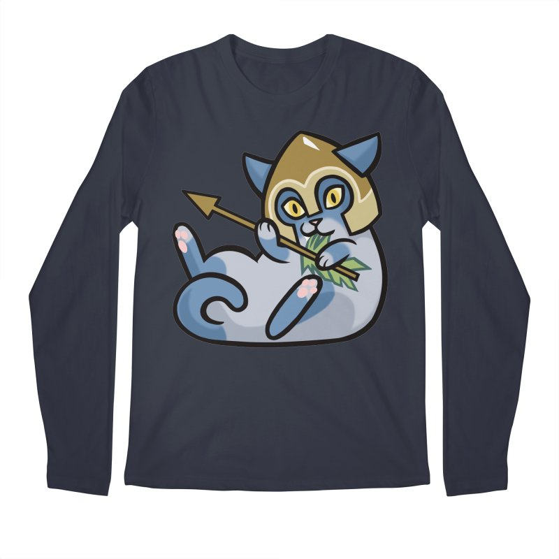 Arrow Cat Men's Regular Longsleeve T-Shirt by mirana's Artist Shop